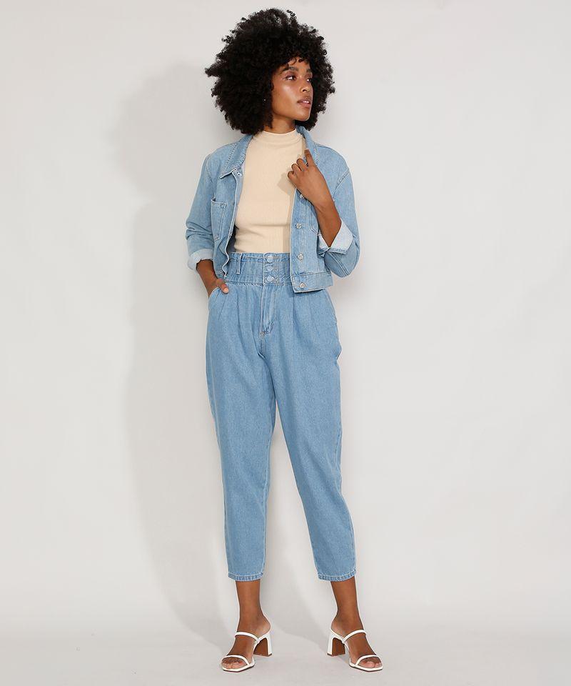 Calca-Jeans-Feminina-Sawary-Cintura-Super-Alta-com-Franzidos-Azul-Claro-9983852-Azul_Claro_3