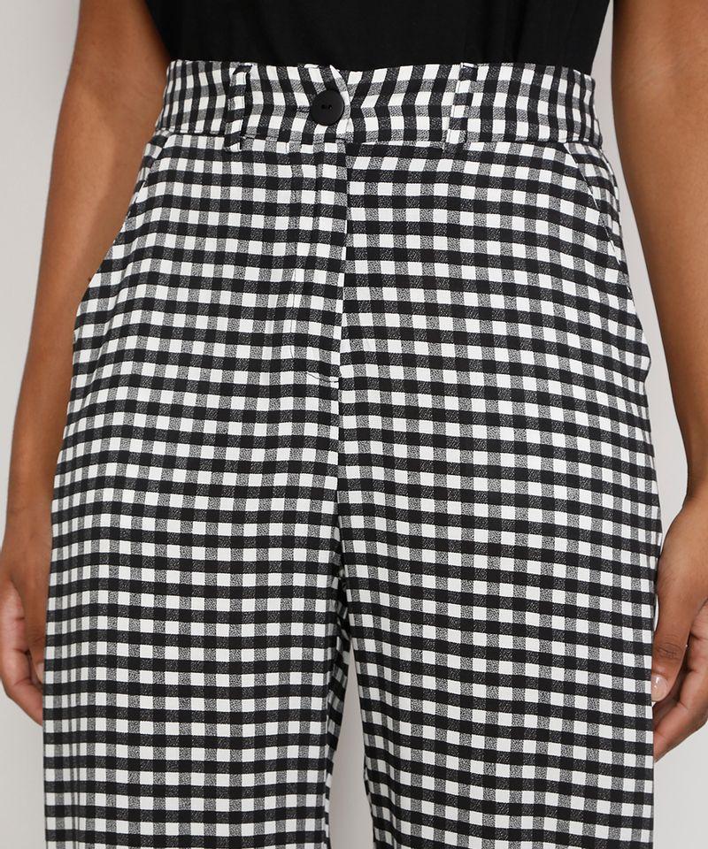 Calca-Feminina-Pantalona-Wide-Cintura-Super-Alta-Alfaiataria-Estampada-Xadrez-Vichy-Preta-9984272-Preto_4