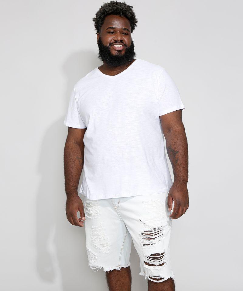 Camiseta-Masculina-Plus-Size-Basica-Manga-Curta-Gola-V-Branca-9980046-Branco_3