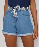Short-Jeans-Feminino-Midi-Cintura-Alta-com-Lenco-Estampado-Azul-Claro-9982917-Azul_Claro_1