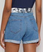 Short-Jeans-Feminino-Midi-Cintura-Alta-com-Lenco-Estampado-Azul-Claro-9982917-Azul_Claro_2