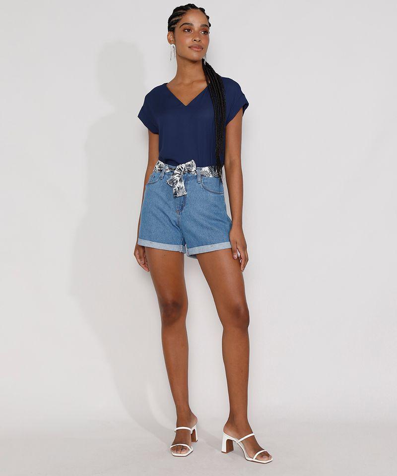 Short-Jeans-Feminino-Midi-Cintura-Alta-com-Lenco-Estampado-Azul-Claro-9982917-Azul_Claro_3