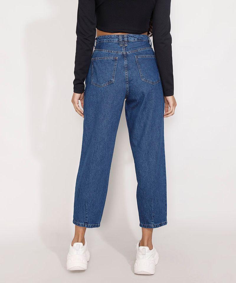 Calca-Jeans-Feminina-Baggy-Cintura-Super-Alta-com-Pregas-Azul-Medio-9978128-Azul_Medio_2