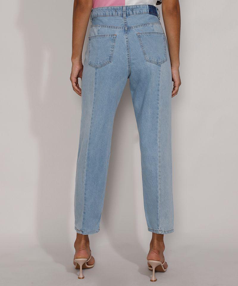 Calca-Jeans-Feminina-Mom-Cintura-Super-Alta-com-Recortes-Azul-Claro-9985618-Azul_Claro_2