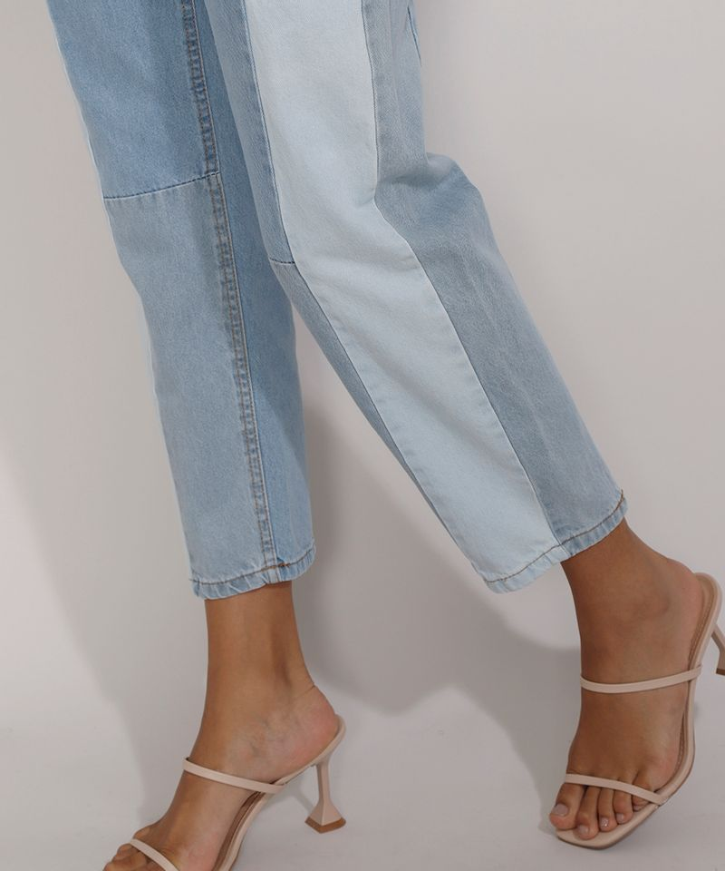 Calca-Jeans-Feminina-Mom-Cintura-Super-Alta-com-Recortes-Azul-Claro-9985618-Azul_Claro_4