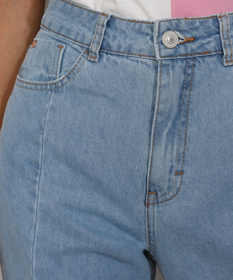 Calca-Jeans-Feminina-Mom-Cintura-Super-Alta-com-Recortes-Azul-Claro-9985618-Azul_Claro_5