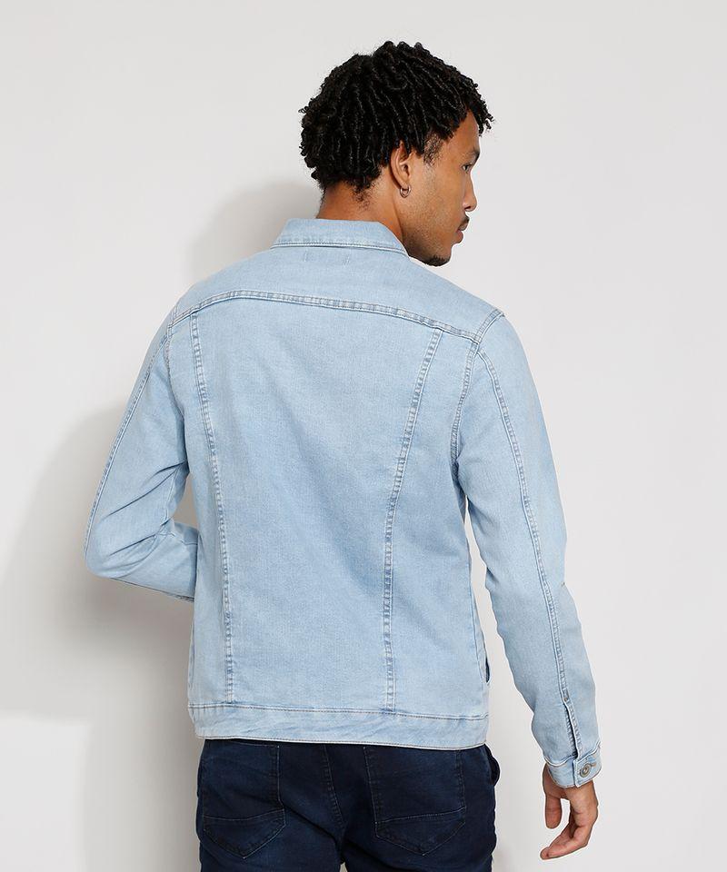 Jaqueta-Jeans-Masculina-Trucker-com-Bolsos-e-Botoes-Azul-Claro-9976766-Azul_Claro_2