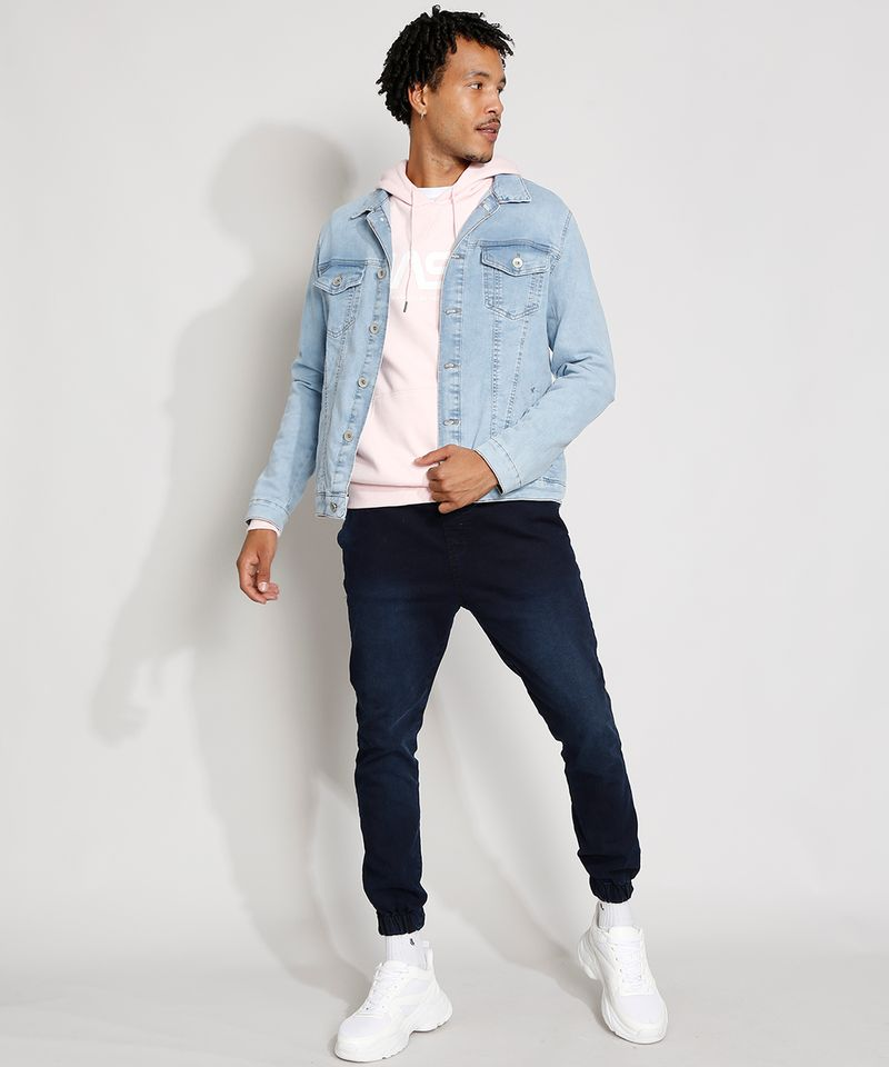 Jaqueta-Jeans-Masculina-Trucker-com-Bolsos-e-Botoes-Azul-Claro-9976766-Azul_Claro_3