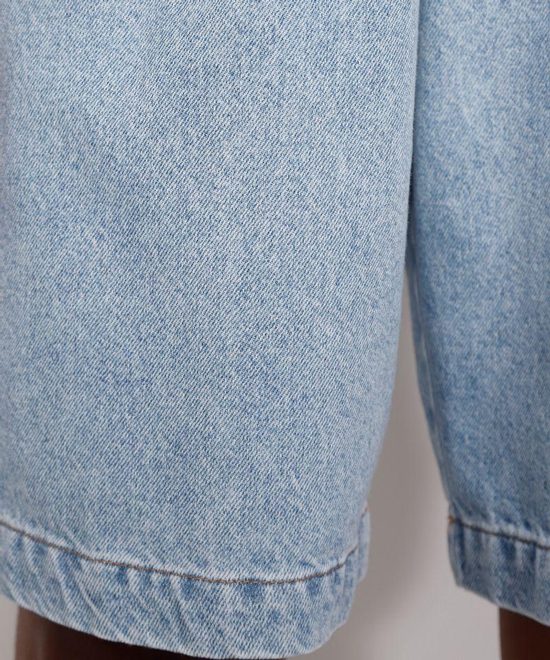 Bermuda-Jeans-Feminina-Mindset-Cintura-Alta-com-Pregas-Azul-Claro-9991000-Azul_Claro_5