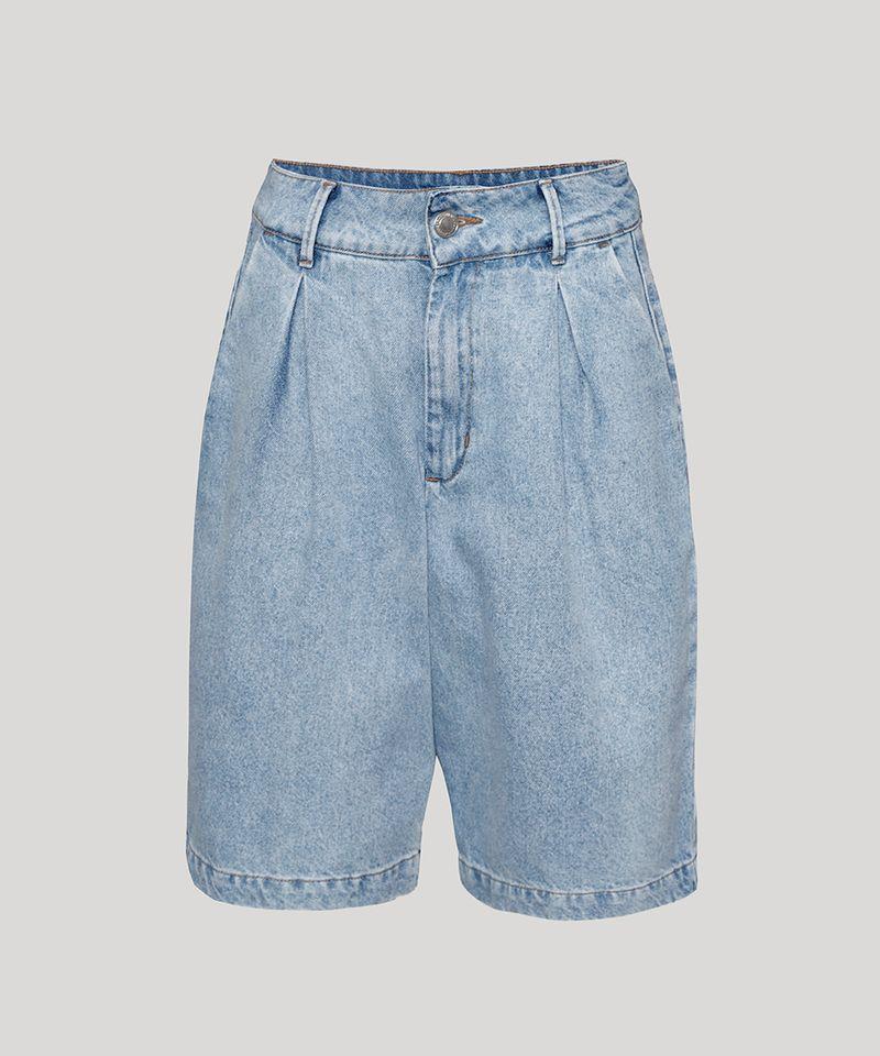 Bermuda-Jeans-Feminina-Mindset-Cintura-Alta-com-Pregas-Azul-Claro-9991000-Azul_Claro_6