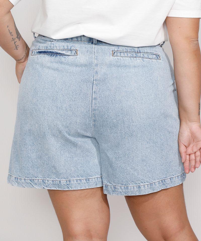 Bermuda-Jeans-Feminina-Plus-Size-Mindset-Cintura-Alta-com-Pregas-Azul-Claro-9991001-Azul_Claro_2