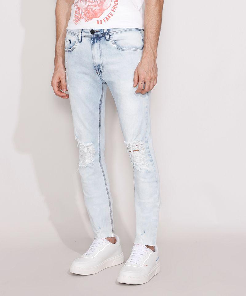Calca-Jeans-Masculina-Skinny-Destroyed-Azul-Claro-9964246-Azul_Claro_1