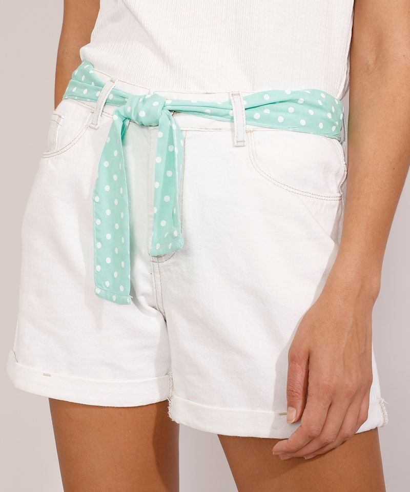 Short-Jeans-Feminino-Midi-Cintura-Media-com-Faixa-para-Amarrar-Estampada-Azul-Claro-9982919-Azul_Claro_1