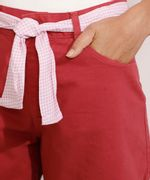 Short-de-Sarja-Midi-Cintura-Media-com-Faixa-para-Amarrar-Estampada-Rosa-9982920-Rosa_4