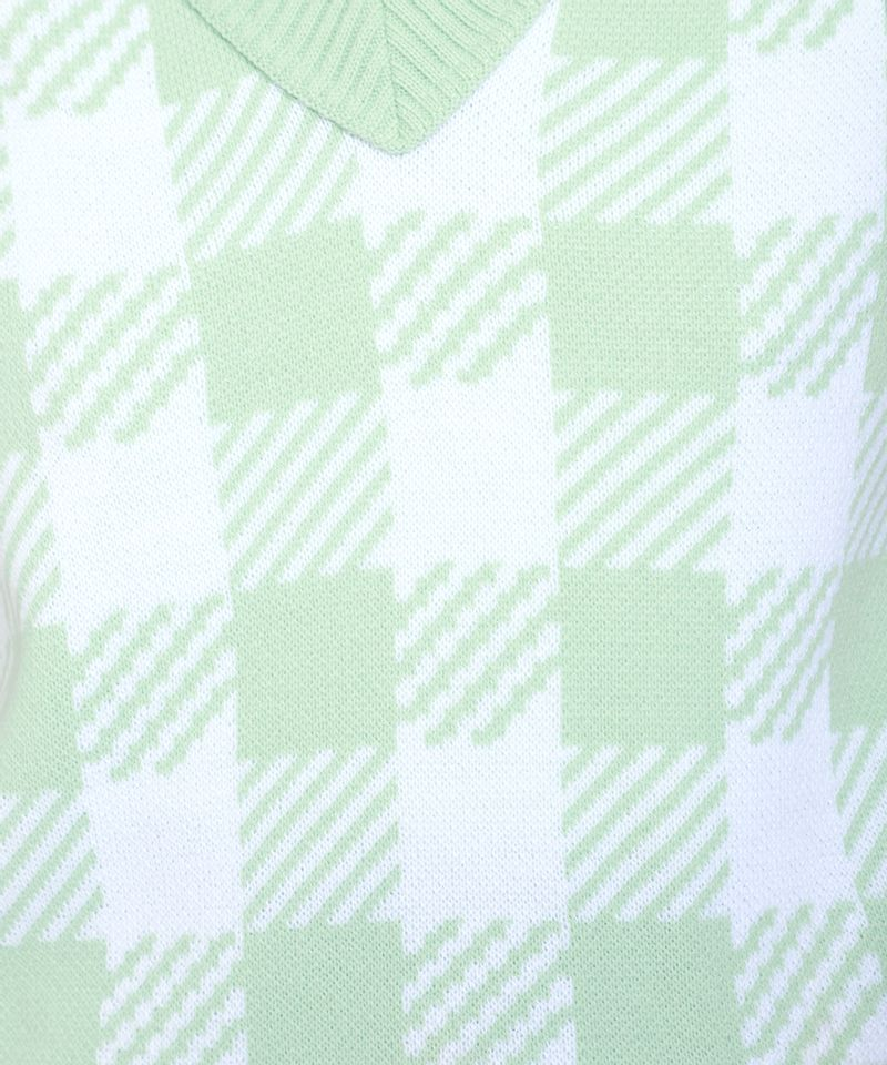 Colete-de-Trico-Feminino-Mindset-Estampado-Xadrez-Vichy-Decote-V-Verde-Claro-9993273-Verde_Claro_5