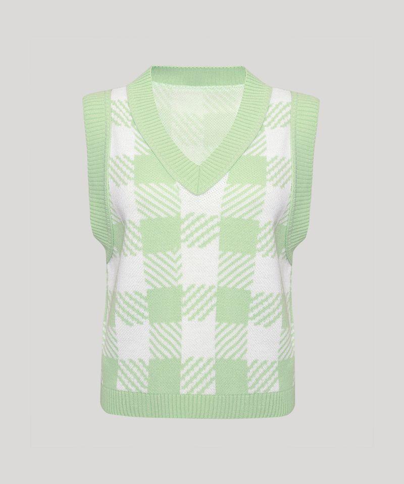 Colete-de-Trico-Feminino-Mindset-Estampado-Xadrez-Vichy-Decote-V-Verde-Claro-9993273-Verde_Claro_6