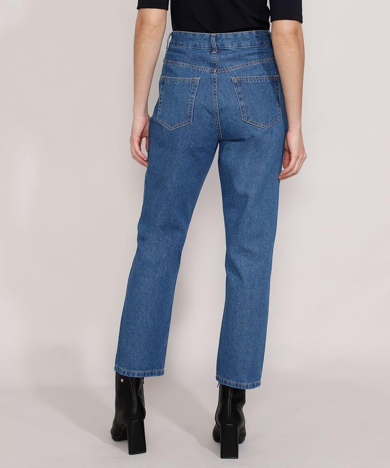 Calca-Jeans-Feminina-Mindset-Reta-Paris-Cintura-Alta-Azul-Medio-9987763-Azul_Medio_2