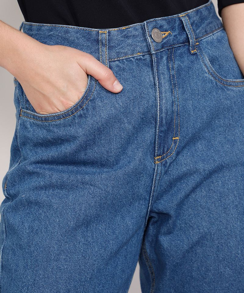 Calca-Jeans-Feminina-Mindset-Reta-Paris-Cintura-Alta-Azul-Medio-9987763-Azul_Medio_5