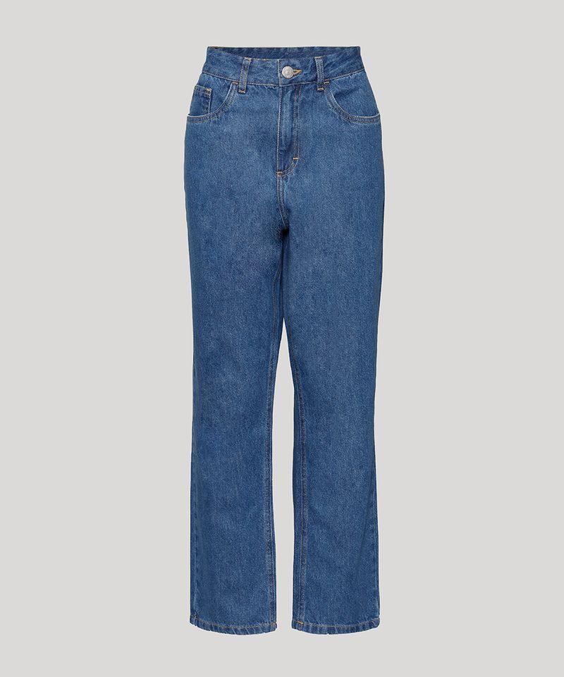 Calca-Jeans-Feminina-Mindset-Reta-Paris-Cintura-Alta-Azul-Medio-9987763-Azul_Medio_6