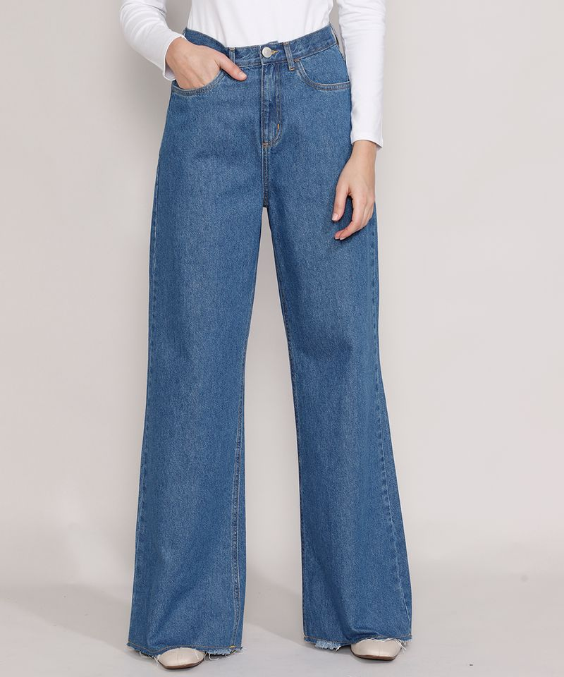 Calca-Jeans-Feminina-Mindset-Wide-Rio-Cintura-Super-Alta-Azul-Medio-9987768-Azul_Medio_1