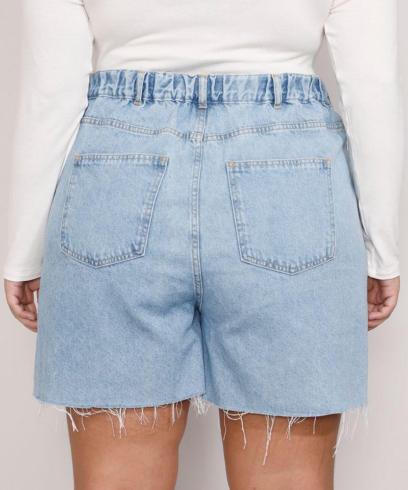 Short-Jeans-Feminino-Plus-Size-Mindset-Los-Angeles-Cintura-Alta-Azul-Claro-Marmorizado-9987769-Azul_Claro_Marmorizado_2