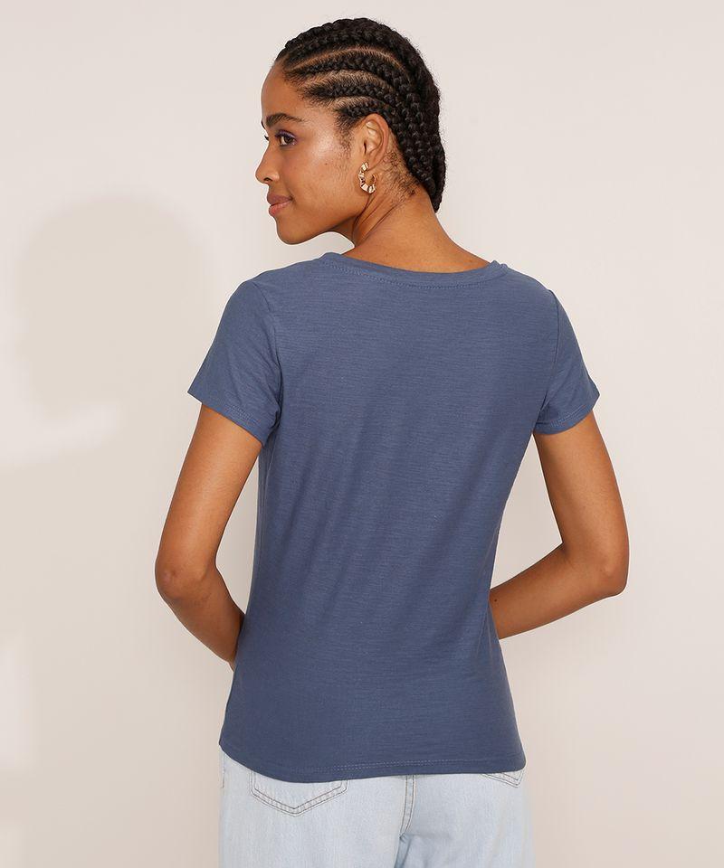 Camiseta-Feminina-Basica-Manga-Curta-Flame-Decote-V-Azul-1-8525926-Azul_1_2