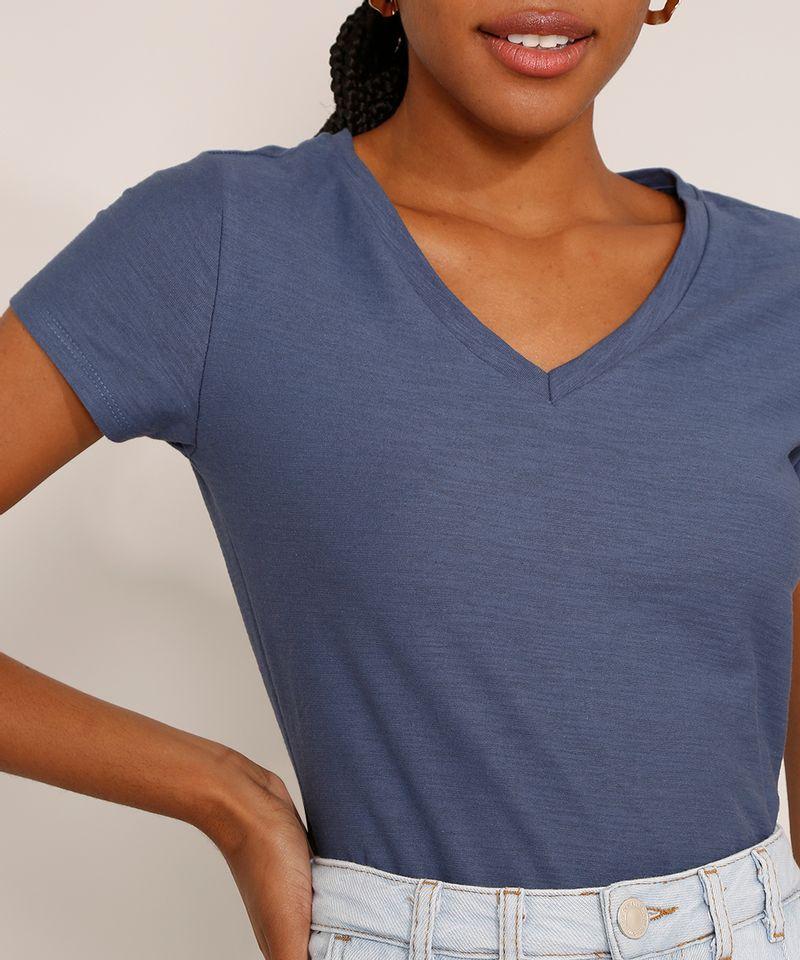 Camiseta-Feminina-Basica-Manga-Curta-Flame-Decote-V-Azul-1-8525926-Azul_1_4