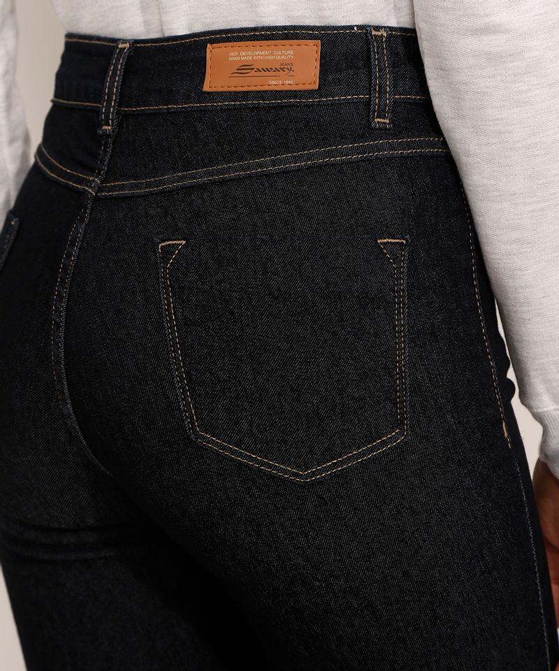 Calca-Jeans-Feminina-Cintura-Alta-Sawary-Cigarrete-360-Azul-Escuro-9983862-Azul_Escuro_6