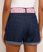 Short-Jeans-Feminino-Midi-Cintura-Media-com-Faixa-para-Amarrar-Estampada-Azul-Escuro-9982918-Azul_Escuro_2