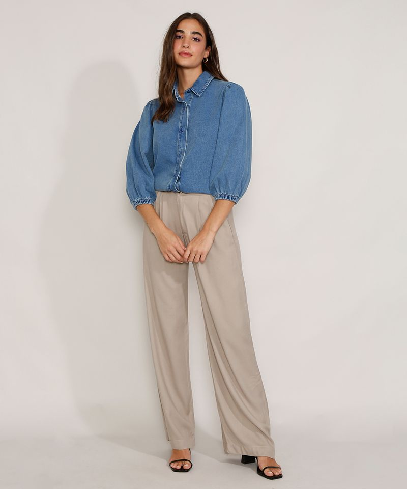 Camisa-Jeans-Feminina-Manga-Bufante-Azul-Medio-9978883-Azul_Medio_3