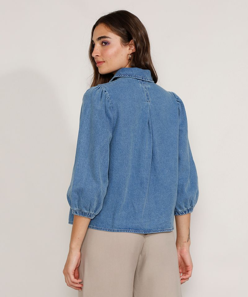 Camisa-Jeans-Feminina-Manga-Bufante-Azul-Medio-9978883-Azul_Medio_4