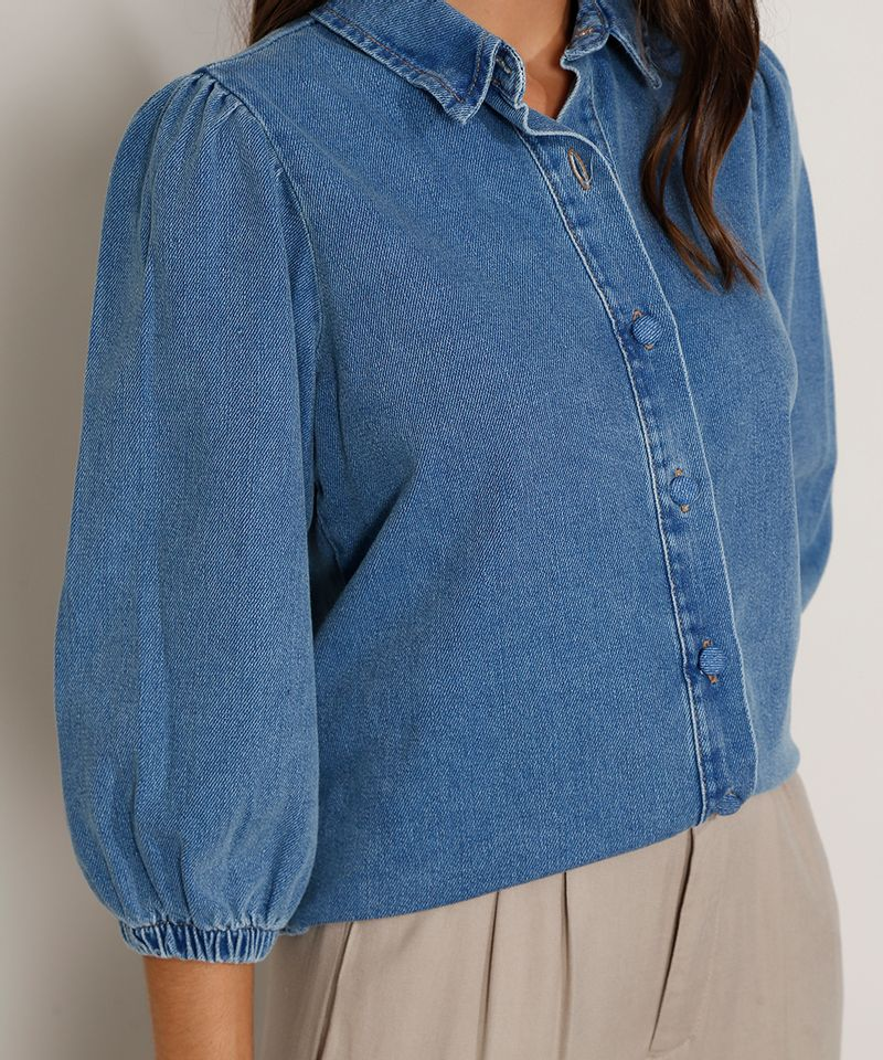 Camisa-Jeans-Feminina-Manga-Bufante-Azul-Medio-9978883-Azul_Medio_5