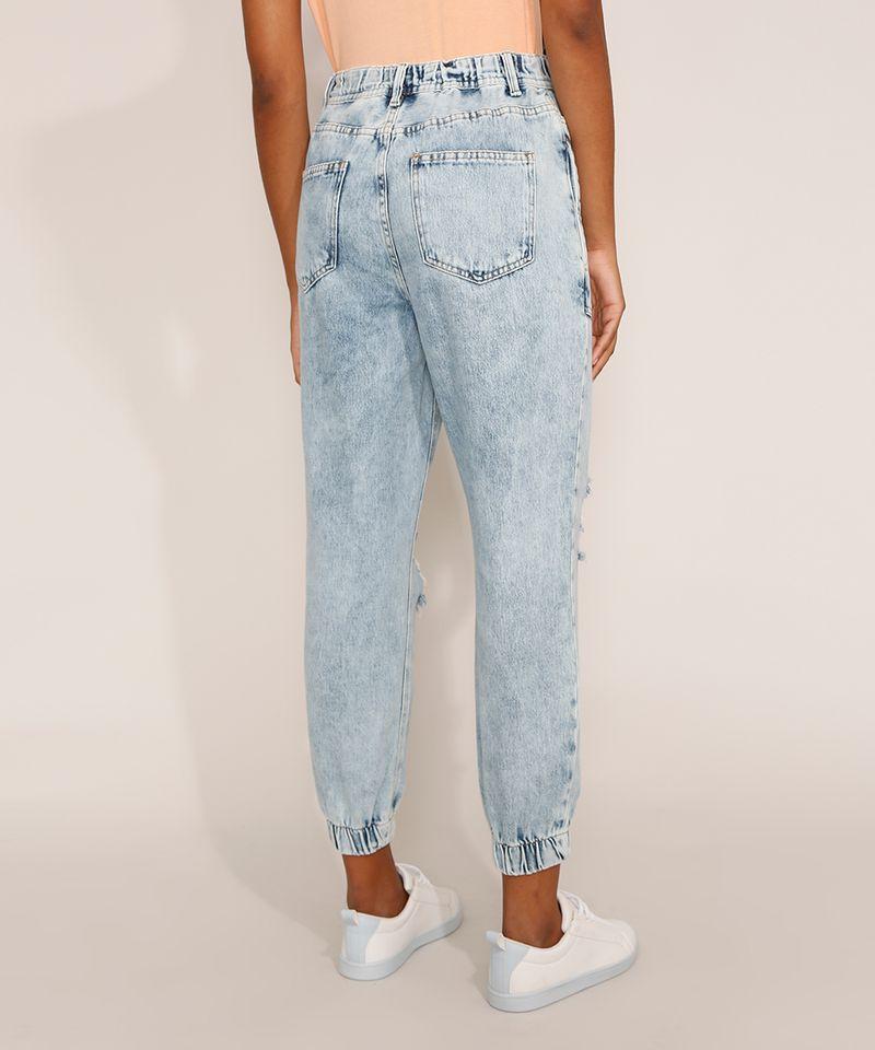 Calca-Jeans-Feminina-Jogger-Cintura-Super-Alta-Destroyed-Marmorizada-Azul-Claro-9978882-Azul_Claro_4