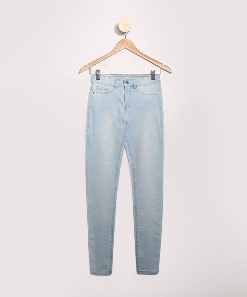 Calca-Jeans-Feminina-Cigarrete-Cintura-Media-Azul-Medio-9979815-Azul_Medio_1