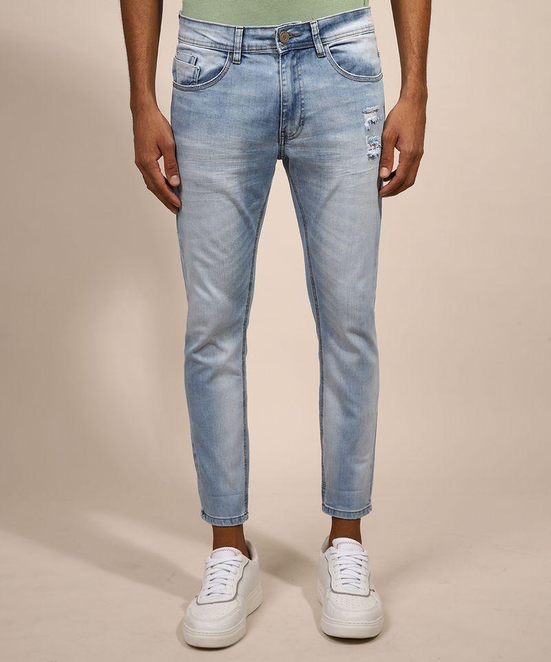Calca-Jeans-Masculina-Skinny-Cropped-Destroyed-Azul-Claro-9982497-Azul_Claro_1