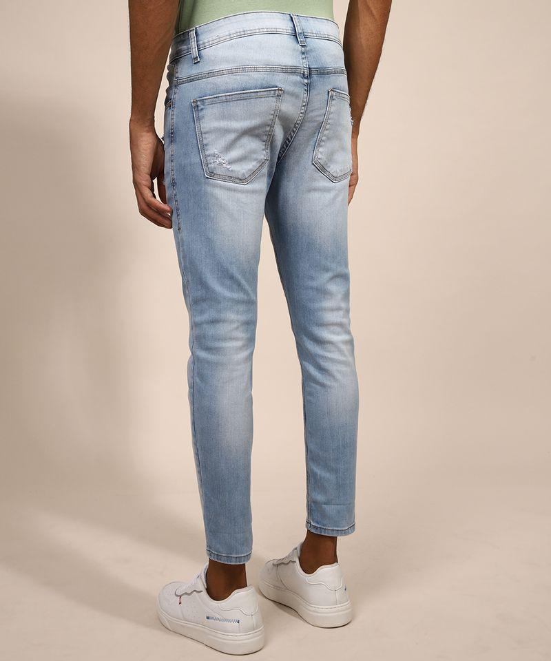 Calca-Jeans-Masculina-Skinny-Cropped-Destroyed-Azul-Claro-9982497-Azul_Claro_2