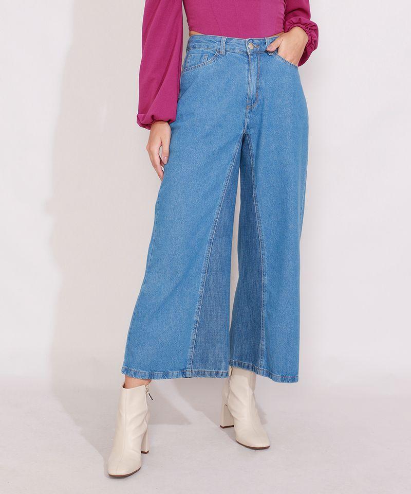 Calca-Jeans-Feminina-Pantacourt-Wide-Cintura-Super-Alta-com-Recorte-Azul-Medio-9989097-Azul_Medio_1