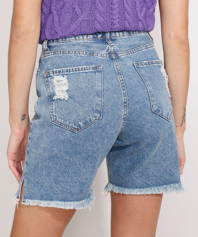 Bermuda-Jeans-com-Barra-Destroyed-Cintura-Super-Alta-Azul-Medio-9989214-Azul_Medio_2