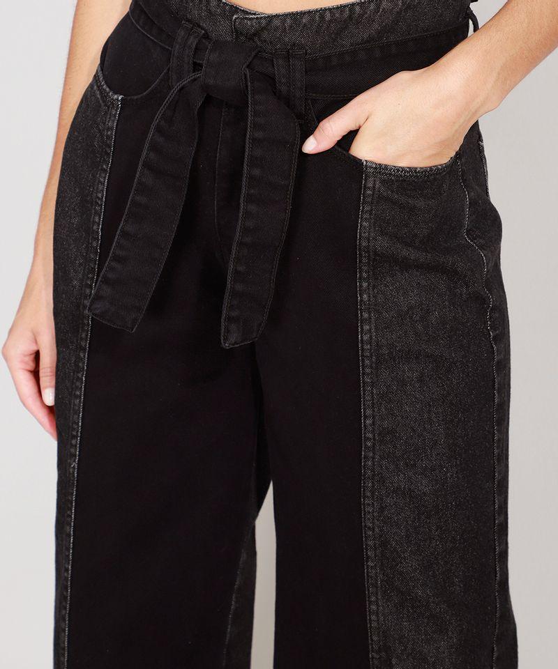 Calca-Wide-Cropped-Jeans-com-Recortes-e-Faixa-para-Amarrar-Cintura-Super-Alta-Preta-9988926-Preto_4