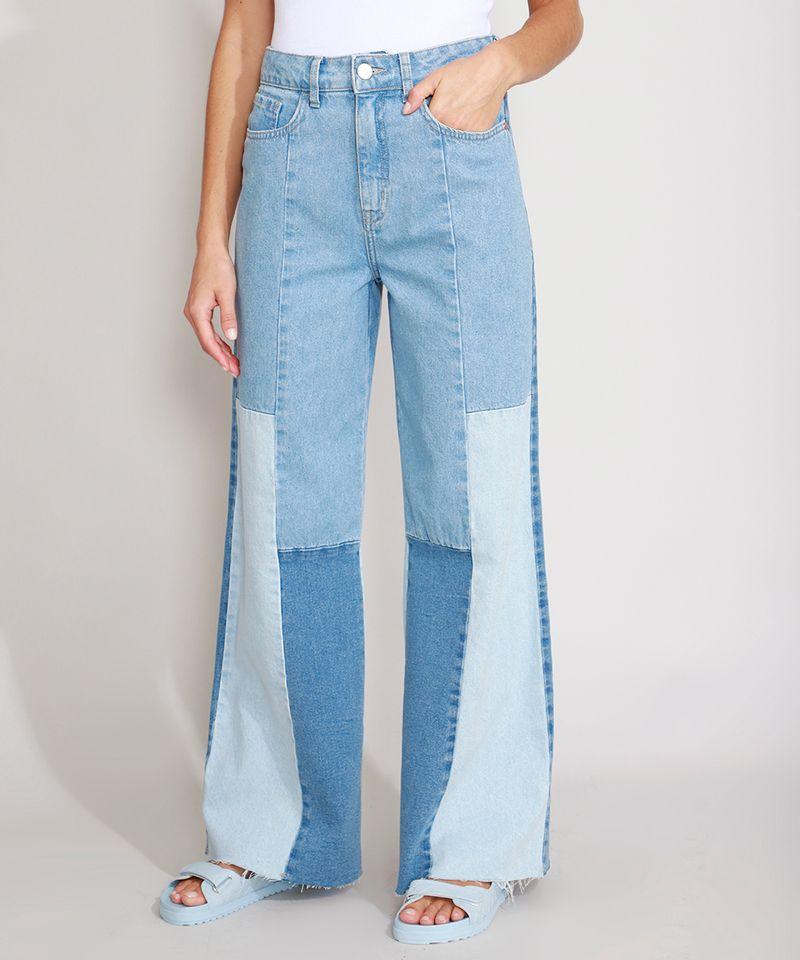 Calca-Wide-Pantalona-Jeans-com-Recortes-Cintura-Super-Alta-Azul-Medio-9988927-Azul_Medio_1