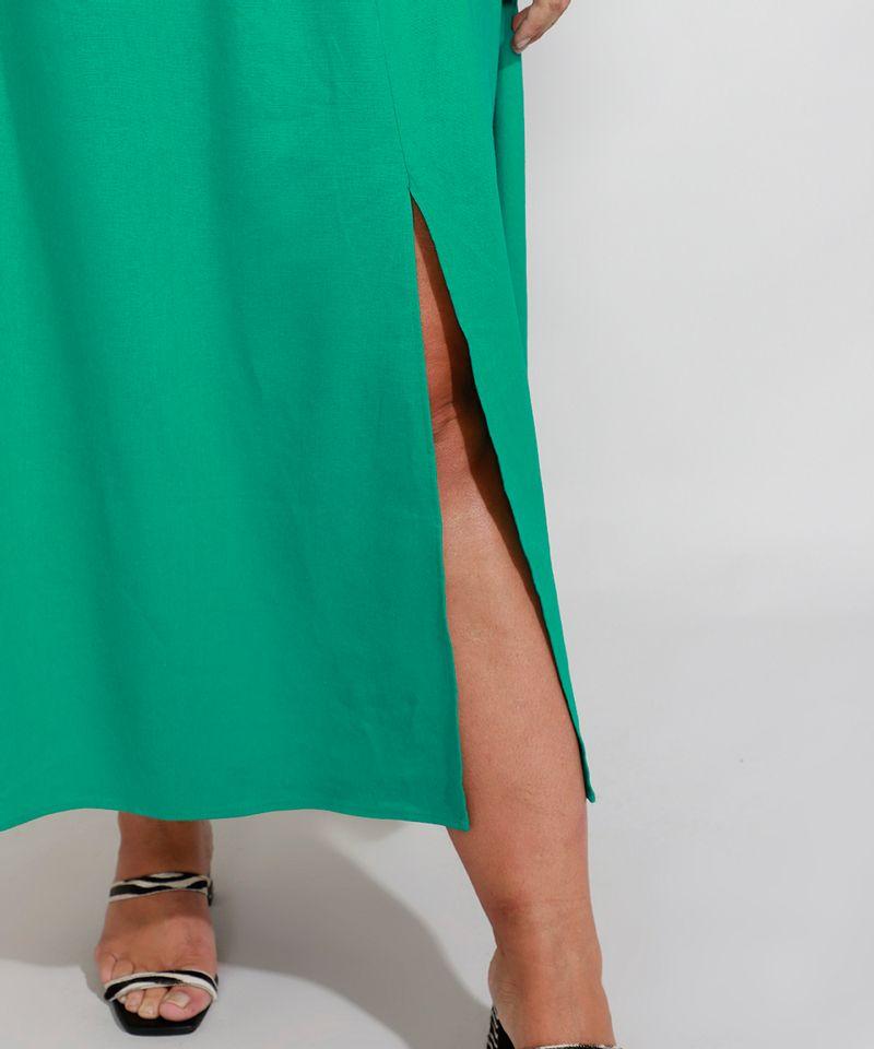 Vestido-de-Linho-com-Lastex-e-Fenda-Longo-Manga-Bufante-Mindset-Verde-9990352-Verde_4