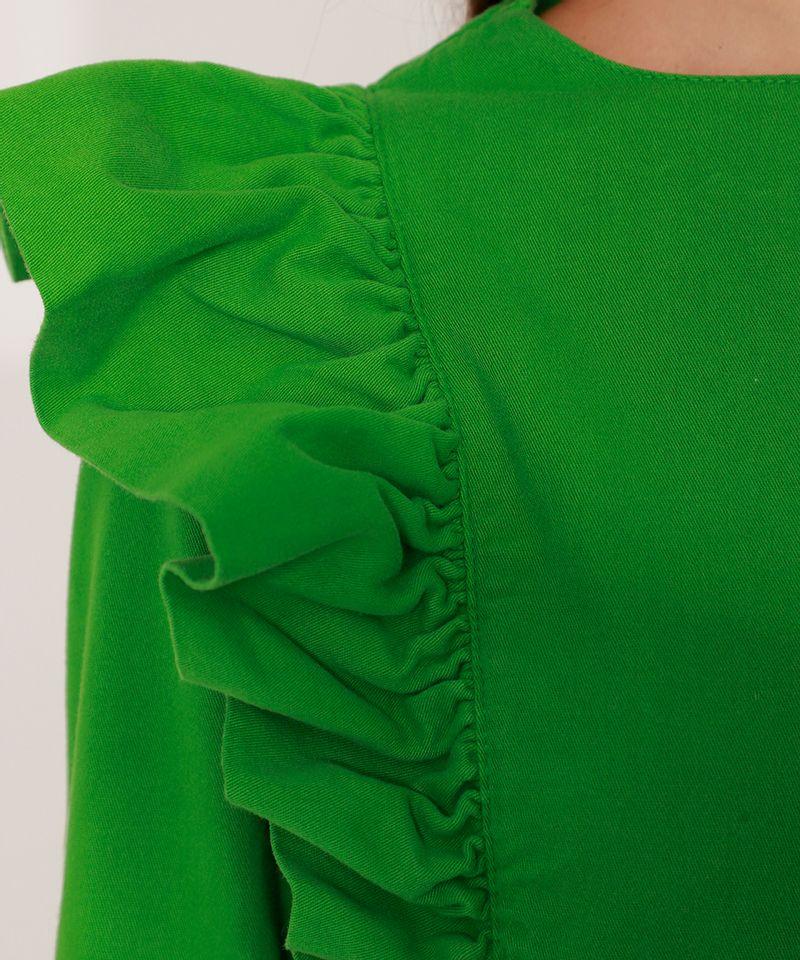 Vestido-de-Sarja-com-Babado-Curto-Manga-Longa-Mindset-Verde-9991491-Verde_5