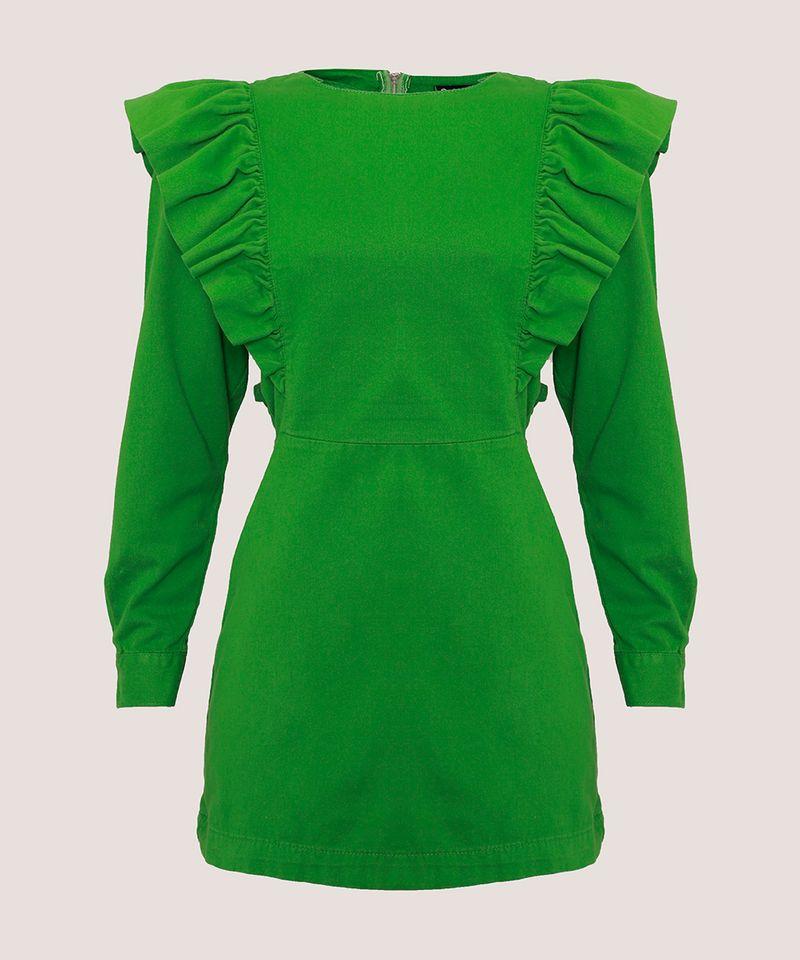 Vestido-de-Sarja-com-Babado-Curto-Manga-Longa-Mindset-Verde-9991491-Verde_7