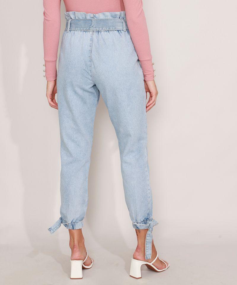 Calca-Clochard-Jogger-Jeans-com-Recortes-e-Faixa-para-Amarrar-Cintura-Super-Alta-Azul-Claro-9985904-Azul_Claro_2