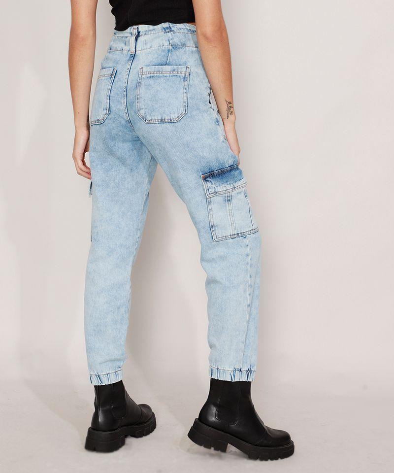 Calca-Jogger-Cargo-Jeans-Marmorizada-Cintura-Super-Alta-Azul-Claro-9988930-Azul_Claro_2