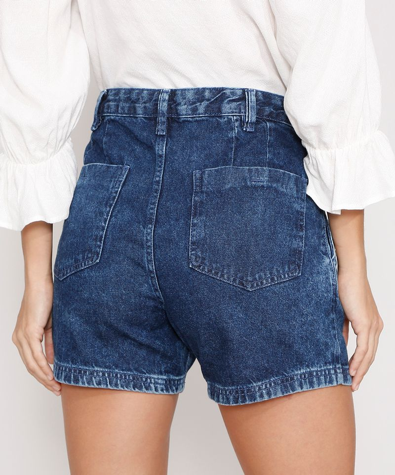 Short-Midi-Jeans-Alfaiataria-com-Botoes-Cintura-Alta-Azul-Escuro-9988998-Azul_Escuro_2