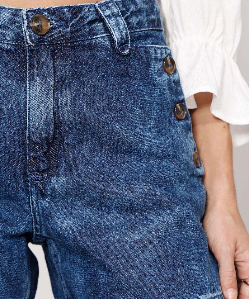 Short-Midi-Jeans-Alfaiataria-com-Botoes-Cintura-Alta-Azul-Escuro-9988998-Azul_Escuro_4