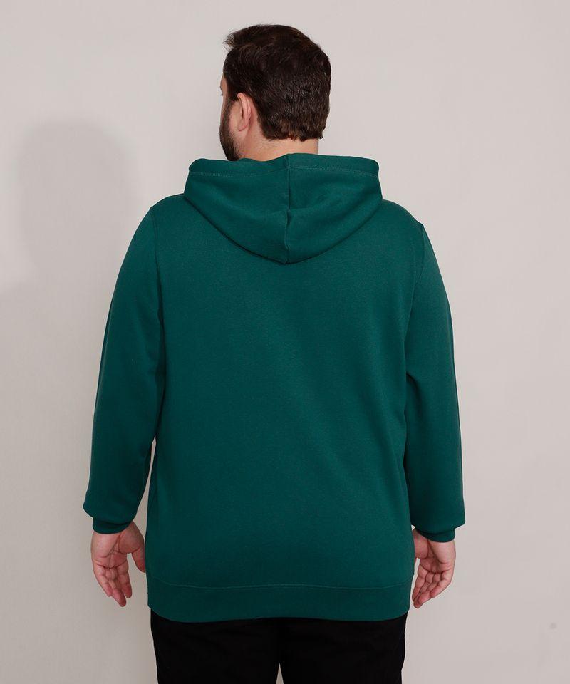 Blusao-de-Moletom-Plus-Size-Basico-com-Capuz-e-Bolsos-Verde-Escuro-9973144-Verde_Escuro_2