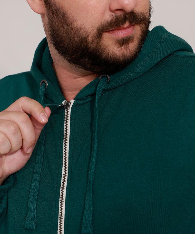 Blusao-de-Moletom-Plus-Size-Basico-com-Capuz-e-Bolsos-Verde-Escuro-9973144-Verde_Escuro_4