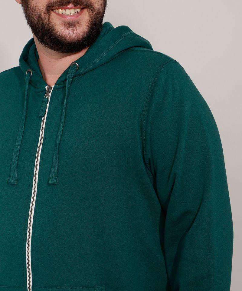 Blusao-de-Moletom-Plus-Size-Basico-com-Capuz-e-Bolsos-Verde-Escuro-9973144-Verde_Escuro_6